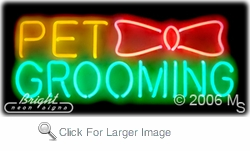 Pet Grooming Logo Neon Sign