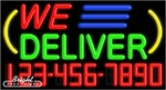 We Deliver Neon w/Phone #