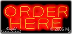 Order Here Neon Sign