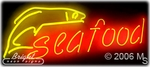 Seafood Logo Neon Sign