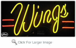 Wings Neon Sign