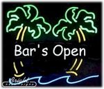 Bars Open Neon Sign