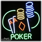 Poker Aces Neon Sign