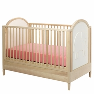 Eco Friendly Natural Light Wood Baby Cribs Free Shipping