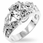 Oval Cut CZ Cubic Zirconia Wedding Engagement Ring