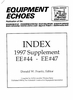 1997 Equipment Echoes Index Supplement
