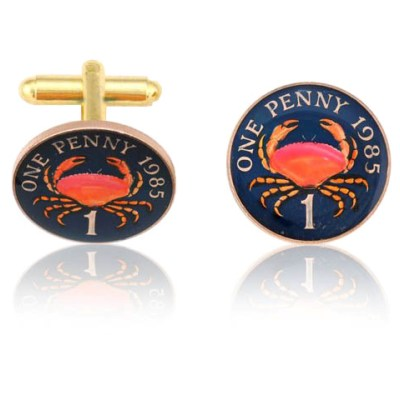 Guinean Crab Coin Cuff Links