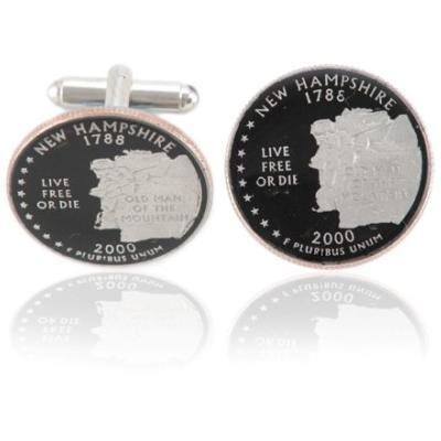 New Hampshirite Quarter Coin Cuff Links