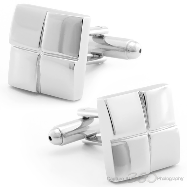 POPPED SQUARED CUFFLINKS