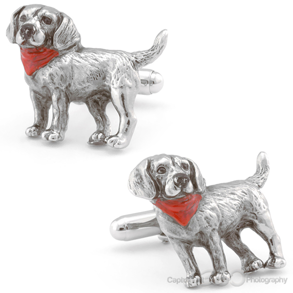 Sculpted Beagle Pup Cufflinks