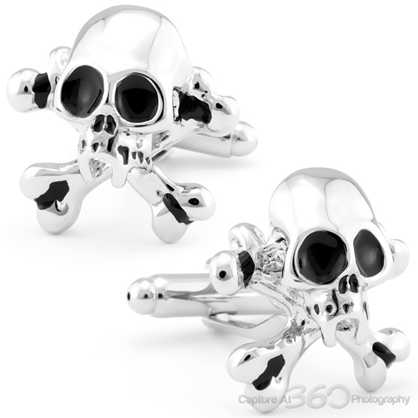 Vampire Skull And Crossbone Cufflinks