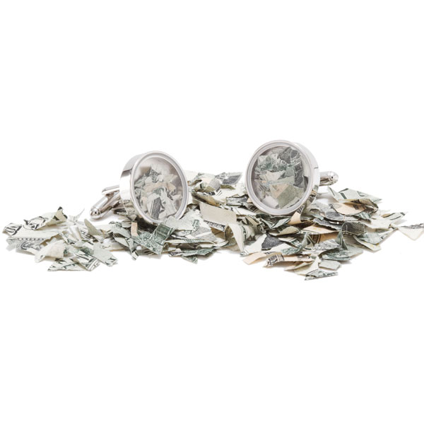 Shredded Money Cufflinks