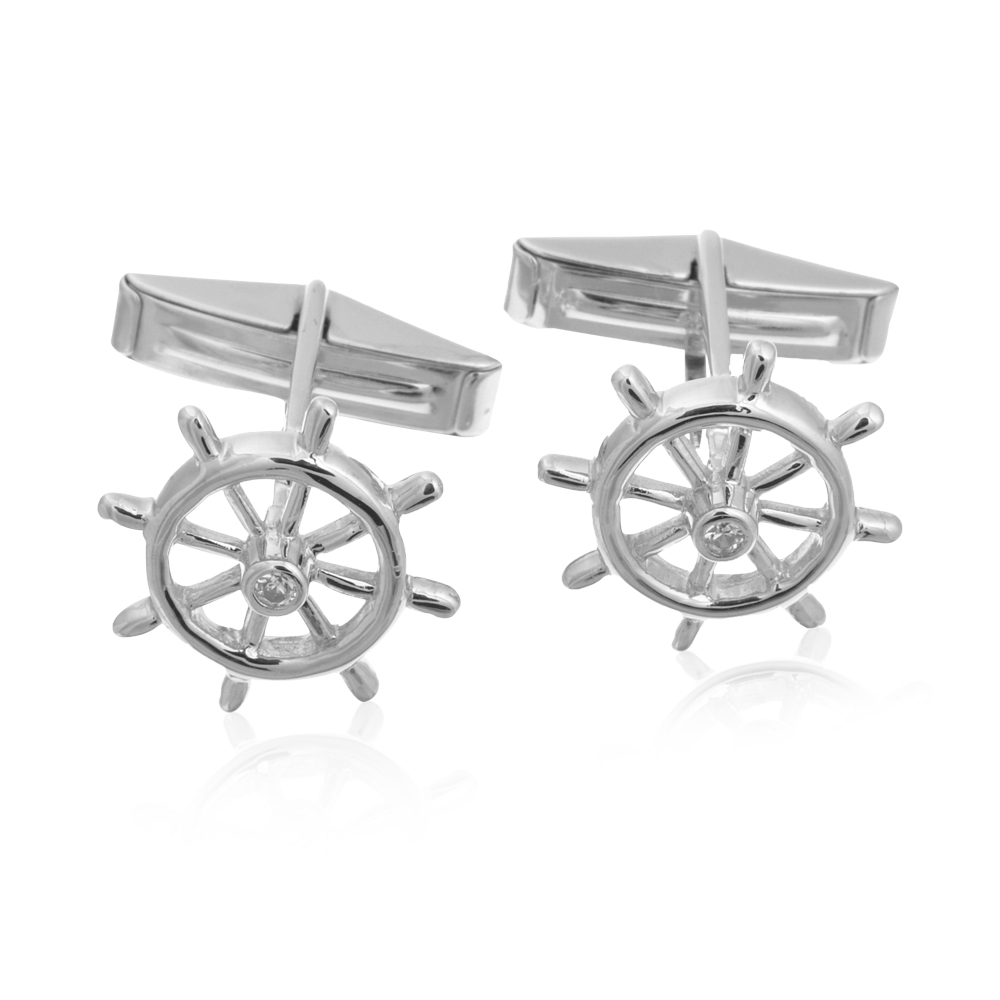 Sterling Boat Wheel Cufflinks