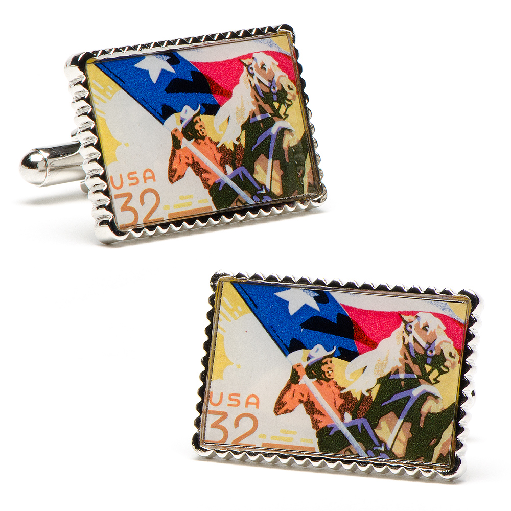 TEXAS HERITAGE STATEHOOD STAMP CUFFLINKS