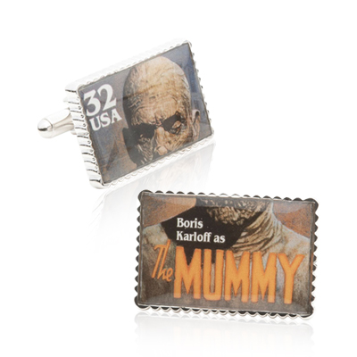 he Mummy Stamp Cufflinks
