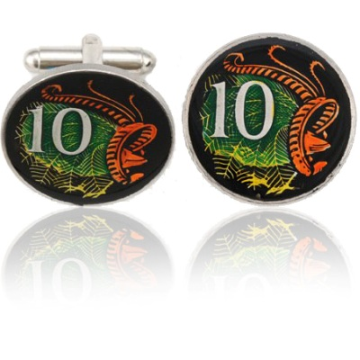 Australian Lizard 808 Coin Cuff Links