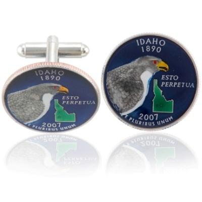 Idahoan Quarter Coin Cuff Links