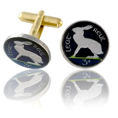 Ireland Rabbit Coin Cuff Links