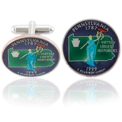 Pennsylvanian Quarter Coin Cuff Links