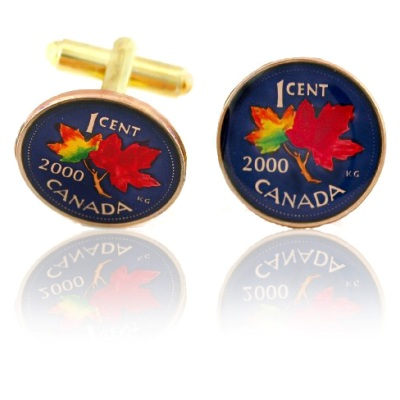 Canadian Penny Coin Cuff Links