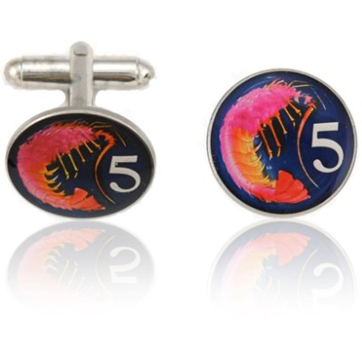 Caymanian Lobster Coin Cuff Links
