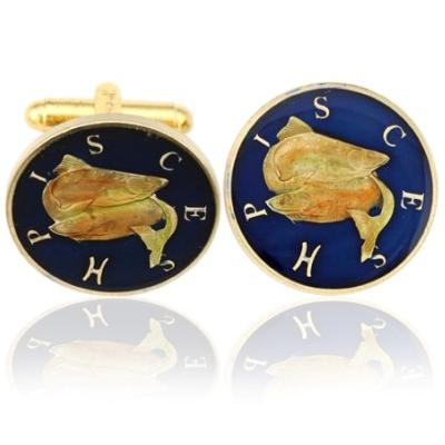 Pisces-The Fishes Coin Cufflinks