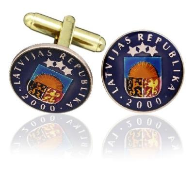 Latvia Coin Cuff Links