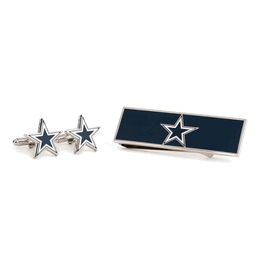 Dallas Cowboys Cufflinks And Money Clip Gift Set