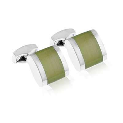 Tateossian Freeway Green Cufflinks