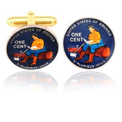 Lincoln Splitting Log Coin Cuff Links