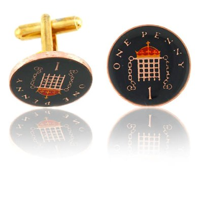 English Penny Coin Cuff Links