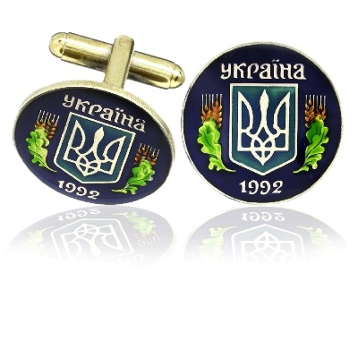 Ukraine Coin Cuff Links