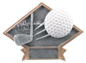 Diamond Golf Resin Plate