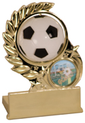 Plastic Wreath Spinner Graphic Soccer Award