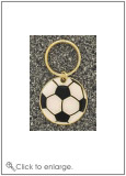 Brass Soccer Key Ring