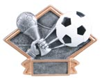 Diamond Soccer Resin Plate