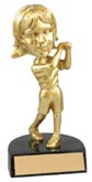 Gold Golf Female Bobble Head
