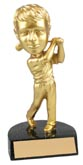 Gold Golf Male Bobble Head
