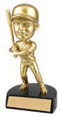Gold Baseball Male Bobble Head
