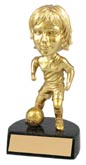 Gold Soccer Bobble Head Female