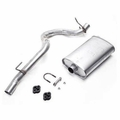 JEEP MUFFLER WITH TAILPIPE, 1991-92 6 CYL 4.0L WRANGLER