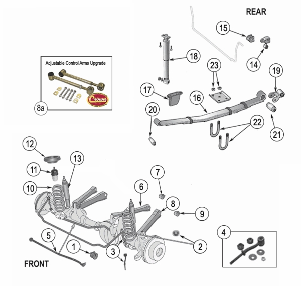 Suspension Jeep Cherokee Xj Suspension Parts Years 1984 2001 on 1998 dodge dakota engine diagram