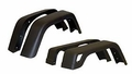 "Wrangler Fender Flare Kit (4 Piece) - Wide Jeep Wrangler (1997-2006); 4 Piece Set; Flat Black; 7"" Wide."