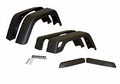 "Wrangler Fender Flare Kit (6 Piece) - Wide Jeep Wrangler (1997-2006); 6 Piece Set; Flat Black; 7"" Wide."