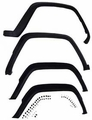 Cherokee Fender Flare Kit Jeep Cherokee (1984-1996); Includes Hardware; Flat Black.