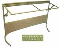 Windshield frame, inner & outer w/ Willys�mark, 1945-49 CJ2A