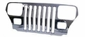 Stainless Steel Grille Overlay Jeep Wrangler (1987-1995); Stainless Steel.