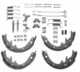 "Shoe Set Master Kit, Fits 1990-1995 Wranglers, 1990-3/9/00 Cherokee XJs, 1997-3/9/00 Wranglers. For 9"" x 2-1/2"" brakes."