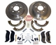Rear Disc Brake Service Kit, 2003-06 Jeep Wrangler TJ W/ Rear Disc Brakes, 2003-07 Liberty KJ W/ Rear Disc Brakes
