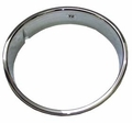 Left Side Chrome Headlight Bezel, Drivers Side, fits 1997-2006 Jeep Wrangler